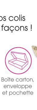 boîte carton enveloppe et pochette