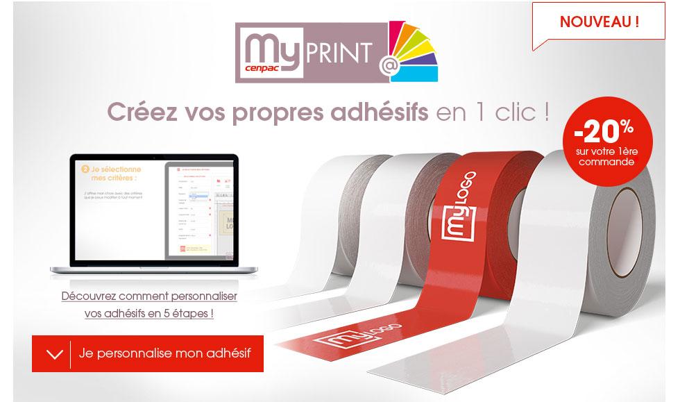 adhesif personnalisé - solution adhésif personnalisable sur cenpac.fr